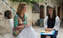 Interviewing Maila Hasso, a Syrian refugee, in Turkey